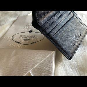 Prada Navy Blue Wallet